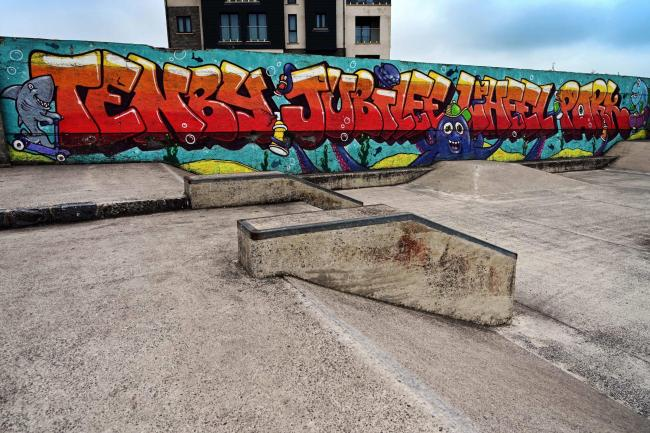 A question mark is now hanging over future fundraising for the Tenby skate park. PICTURE; Gareth Davies Photography