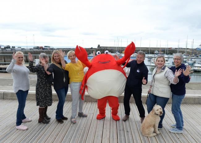 Colin the Crab and friends are welcoming everyone to Saundersfoot this weekend.PICTURE: Gareth Davies Photography
