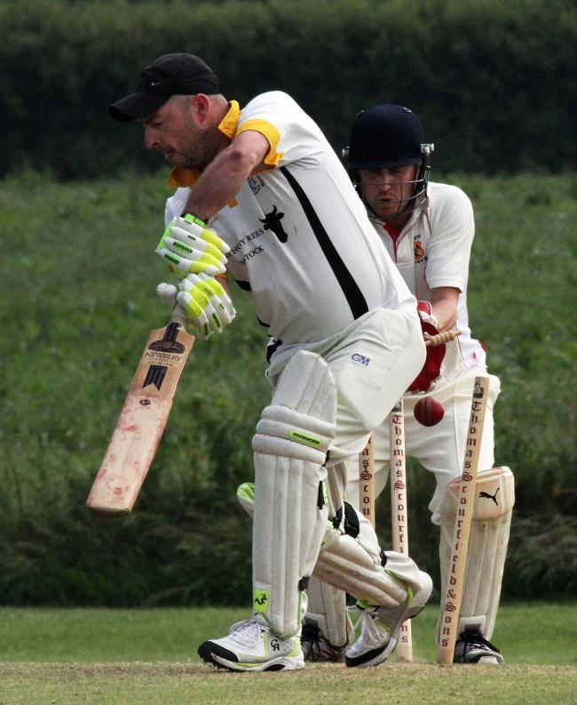 Gary James is bowled by Simon Wood. PICTURE: Susan McKehon.