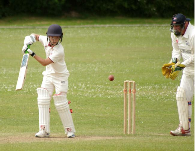 Charlie Arthur batting for Cresselly 2nds at Hook. PICTURE: Western Telegraph.