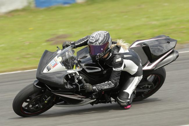 A photo shared by Phil Bevan Trackdays and captioned: Laura Davies, doing what she loved. Flying with Angels now.