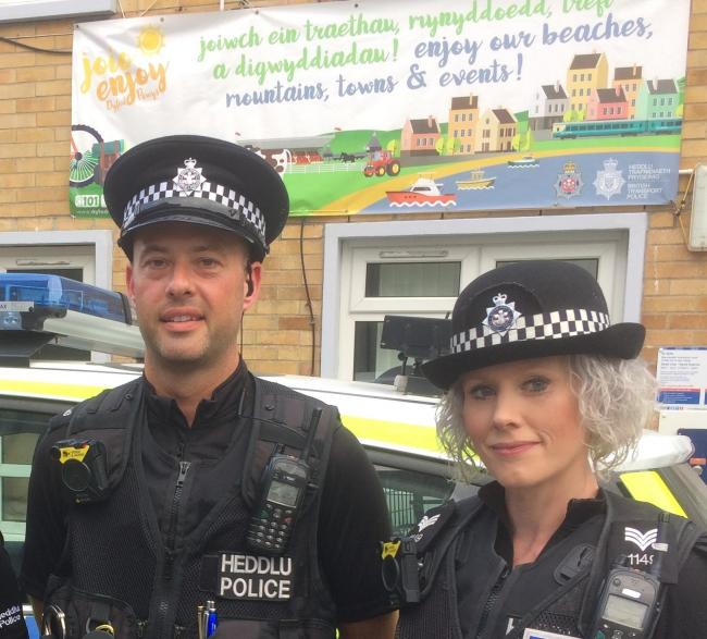 Tenby officers PC Christian Rowlands and Sgt Bev Rodriguez are taking part in Operation Lion.