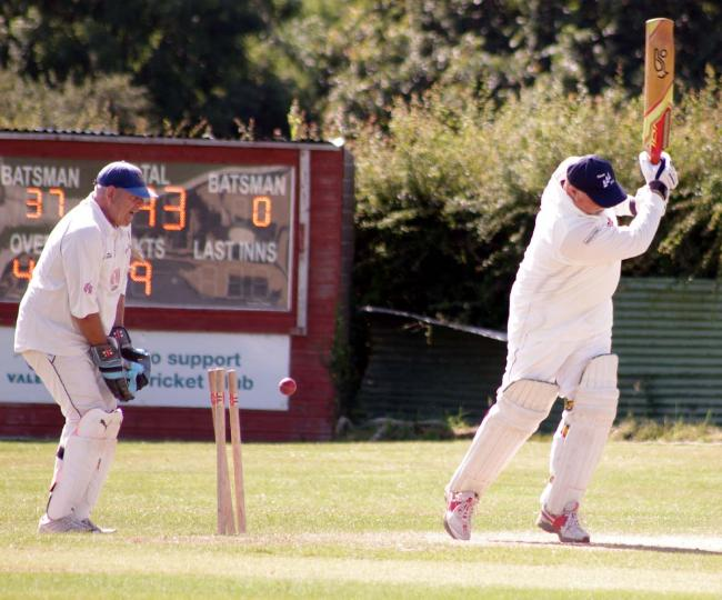 Martin Rees is bowled at Hook. PICTURE: Western Telegraph.