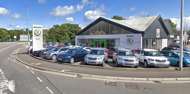 Some £18,000-worth of damage was caused at the Fred Rees Garage, Haverfordwest. PICTURE: Google Street View.