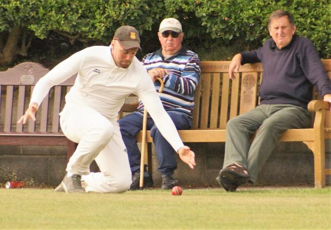 Carew's Scott Powell fields a ball on the boundary. PICTURE: Kevin Bowen.