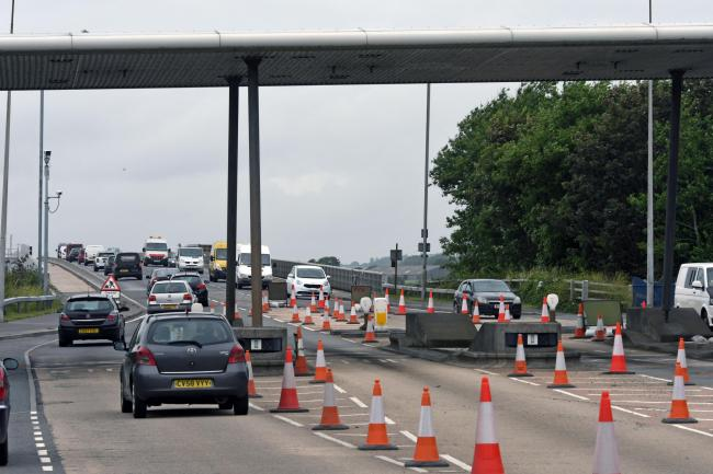 The Cleddau Bridge after the toll booths were removed. PICTURE: Martin Cavaney.