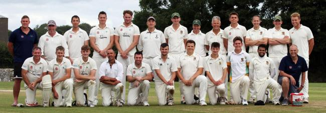 Pembroke CC and Narberth line up with Richard Howells who collected for Wales Air Ambulance. PICTURE: Susan McKehon