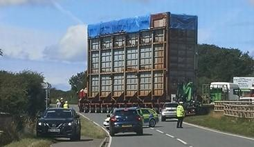 Abnormal load movements en route to Gelliswick.