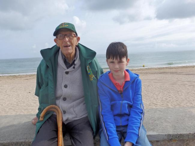 D-Day hero Ted tells his story on TV