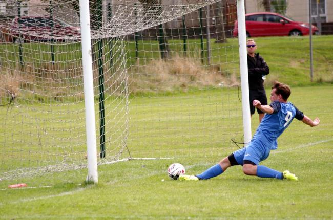Dylan Davies opens the scoring. PICTURE: Western Telegraph.