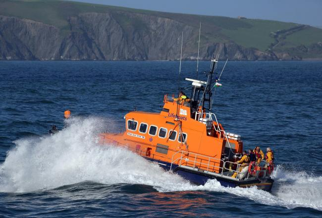 Fishguard all-weather lifeboat Blue Peter VII. PICTURE: RNLI/Nicholas Leach.