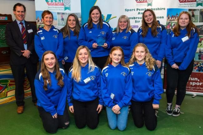 Pictured are Fishguard & Goodwick Ladies Hockey Club, who were finalists in the Team of the Year category in last year's Sport Pembrokeshire Awards.