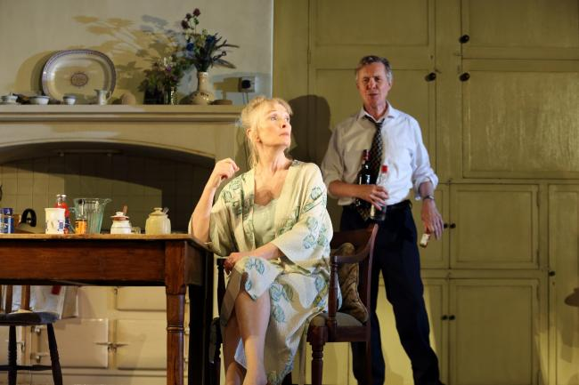 Alex Jennings and Lyndsey Duncan in Hansard, broadcast live at the Torch Theatre. Picture: Catherine Ashmore