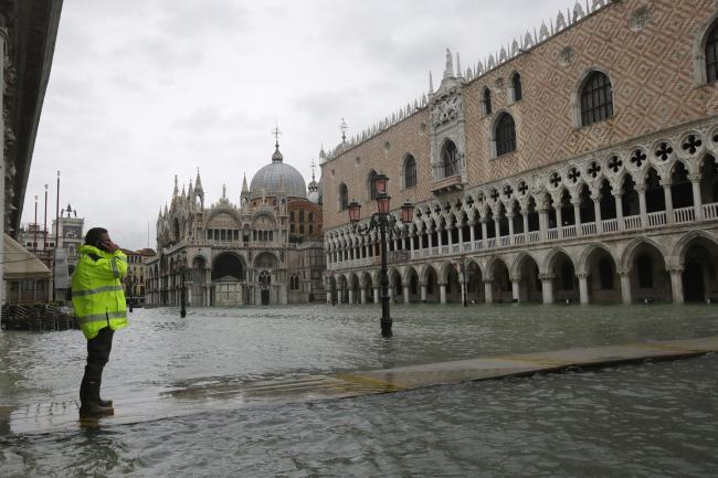 Flooding in St Mark's Square, Venice