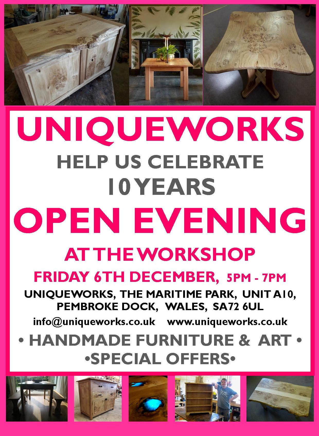 Uniqueworks Furniture 10 Years Celebration Open Evening
