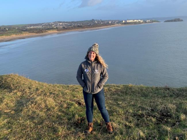 The Pembrokeshire Coast Path is Dani Harries' training ground for her upcoming Cambodia trek in aid of Ty Hafan.