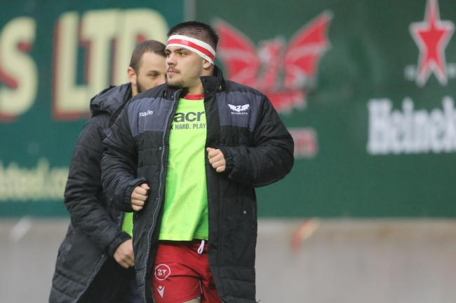 Dom Booth was named in Scarlets squad on Saturday. PICTURE: Riley Sports Photography.