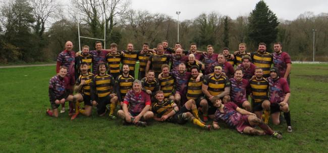 St Davids and Cardiff Harlequins after their game.