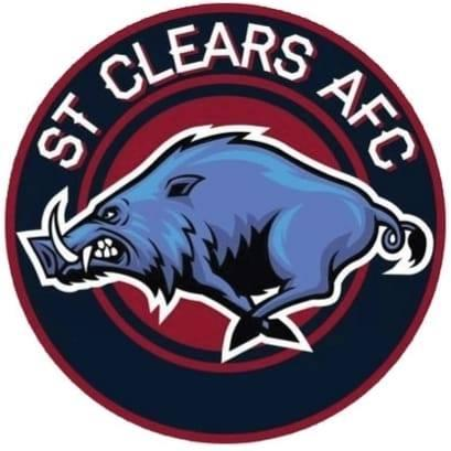 The St Clears badge that won the World Cup.