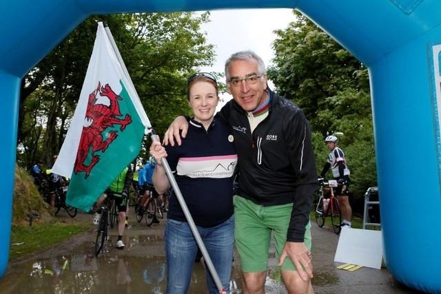 Peter Walker with Tour of Pembrokeshire patron Tori James
