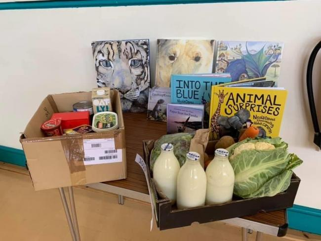 Local author, Jackie Morris, has donated books to be distributed by the St Davids Food Pod.