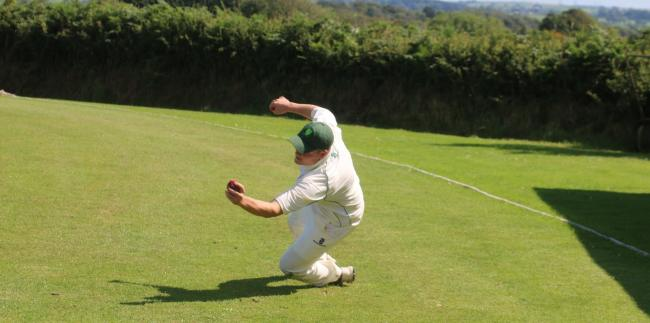 Burton may need more fielding like this tomorrow. PICTURE: Western Telegraph.