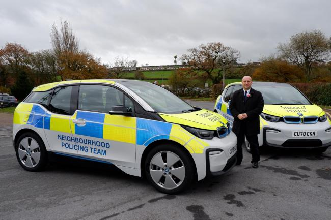 Police and Crime Commissioner Dafydd Llywelyn has welcomed a new fleet of electric cars