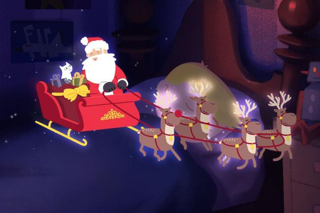 Cats Protection Christmas animation