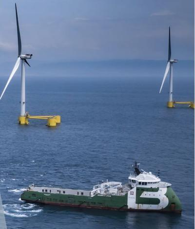A floating wind farm off the coast of Pembrokeshire has come one step closer