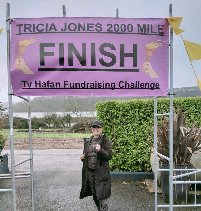 Trisha Jones has walked 2,000 miles and raised more than £2,000 for Ty Hafan Children's Hospice