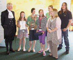 Group winners: Young volunteers from PATCH based in Milford Haven won the young group award.