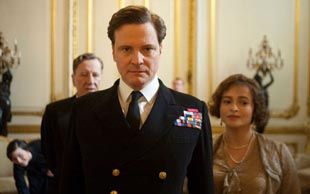 FIT FOR A KING: Colin Firth and Helena Bonham Carter take the lead roles.
