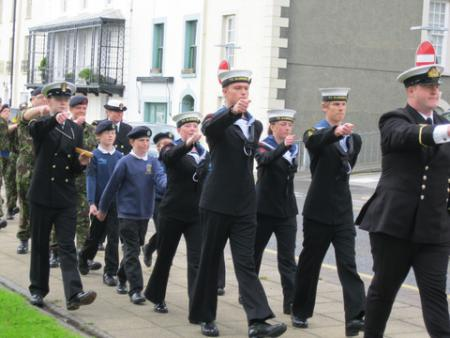 Milford Haven Civic Parade from the Cenotaph to St Katharine's and St Peter's Church, Saturday June 30th, 2012.