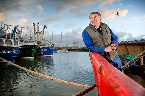 Drama: Shaun Ryan and his trawler make up part of a new real life drama from BBC One Wales for the new year called Wales in a Year. Picture credit: Patrick Olman.