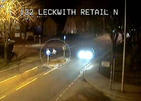 CCTV footage shows Ben crossing Leckwith Road into Lawrenny Avenue at 7.17pm on Saturday.