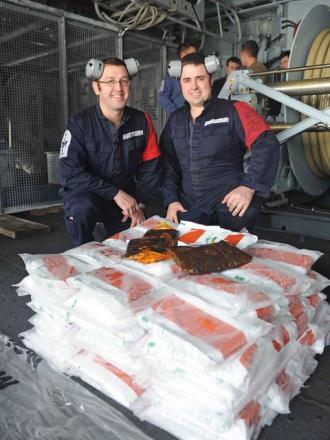 Milford Haven sailors play their part in multi-million pound drugs bust