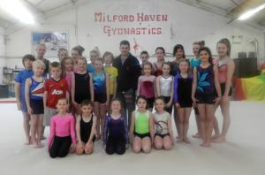 Milford gymnasts left Spellbound.