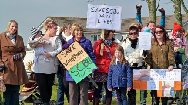 SAVE THE SCBU: Proposals to close the Special Care Baby Unit at Withybush Hospital have sparked protests.  (1211101)
