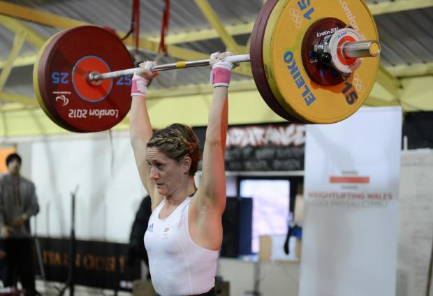 LOOKING STRONG: Michaela Breeze lifting at the Celtic Championships in December. (3277180)