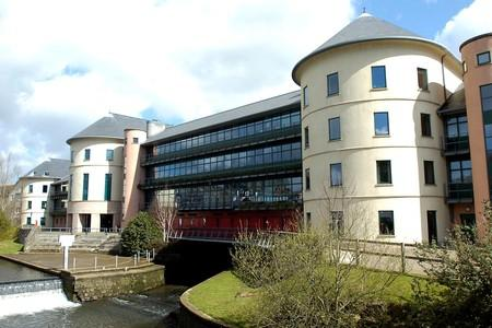 COUNTY HALL: Pembrokeshire County Council's main offices in Haverfordwest.  (3995367)