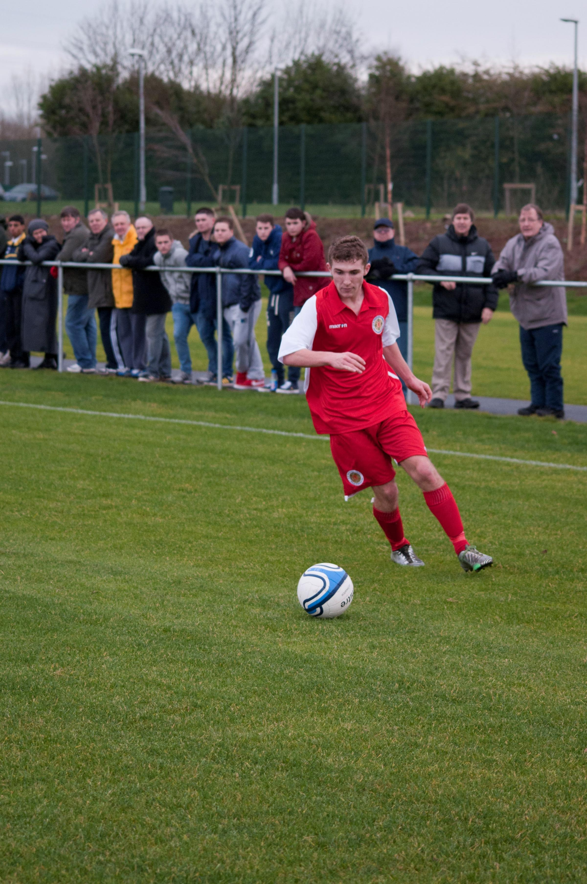 ON THE BALL: Laurie Haworth made debuts for the Wales Schoolboys Under-18s and the Welsh Colleges. (3413148)