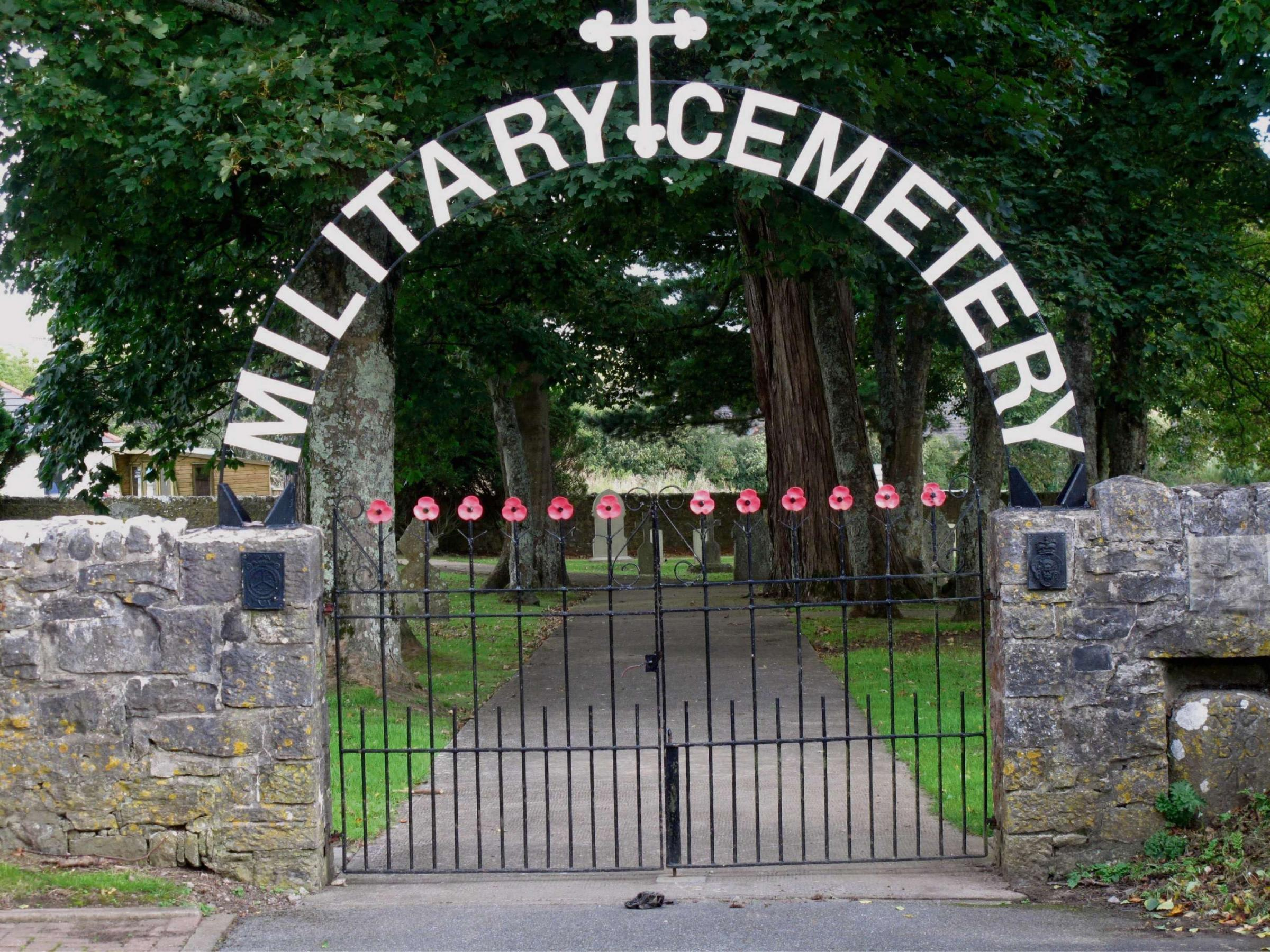 SUBSIDENCE: The remains of six people buried at Wales' only Military Cemetery in Pembroke Dock are to be dug up.  PICTURE: Martin Cavaney. (3545319)