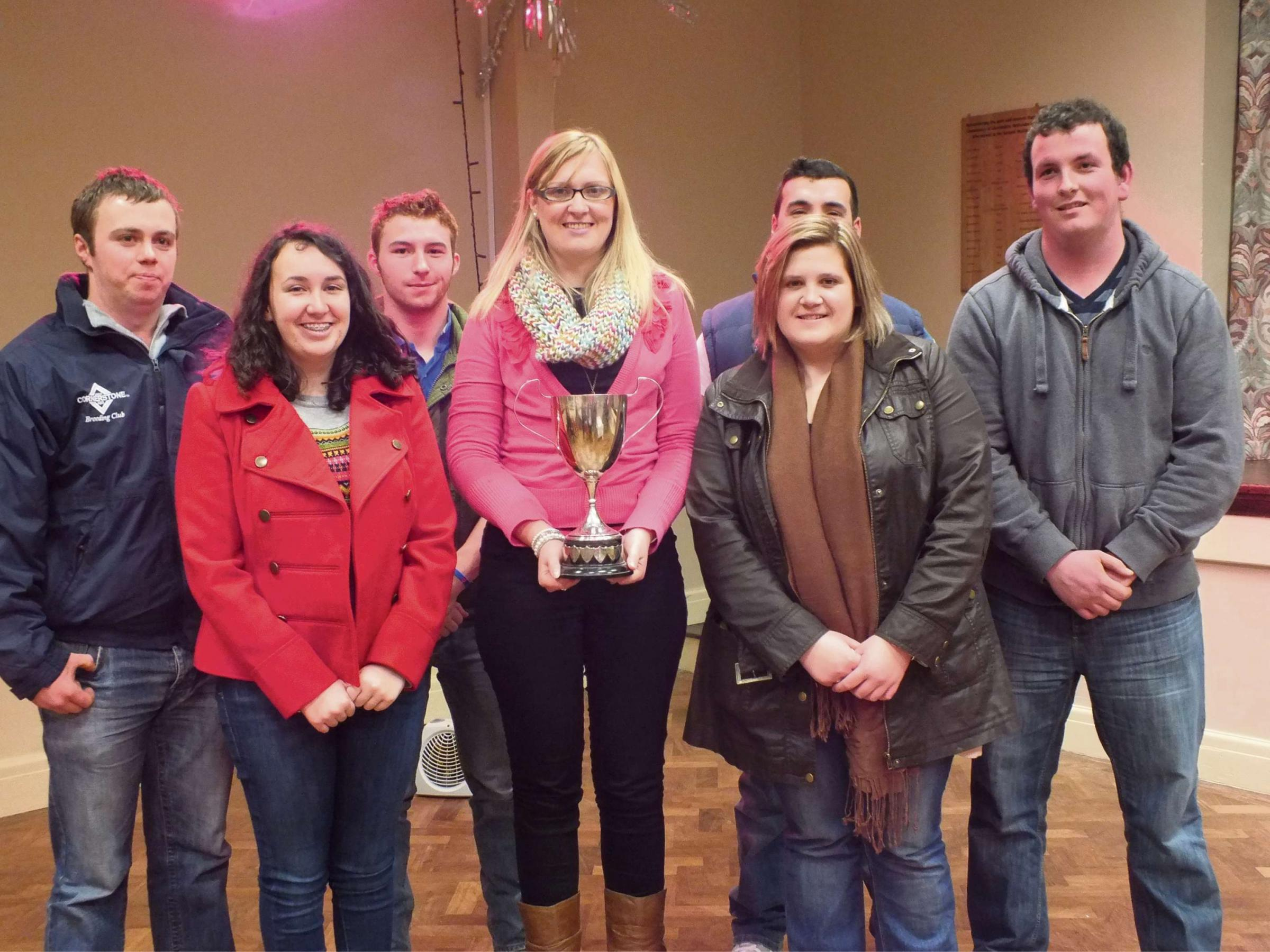 TOP TIERS: Tiers Cross YFC's knockout quiz team who were crowned county champions for the second year running. (3579422)