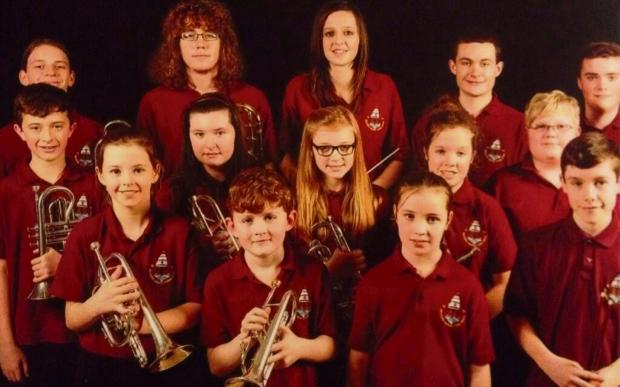 YOUNG TALENTS: Members of Milford Haven Junior Band. (3826225)