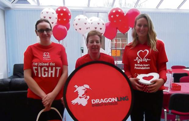 SCARLET FEVER: Dragon LNG staff Lynette Fenwick, Julia Norton, and Laura Callan,  (3964288)