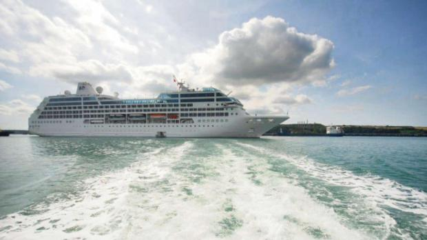 WAVE HELLO: Ocean Princess will be among the ships bringing hundreds of tourists to Pembrokeshire this autumn. (4292534)