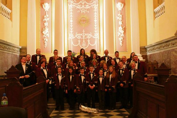WATERFORD WEEKEND: Milford Haven Town Band performed in Ireland recently.