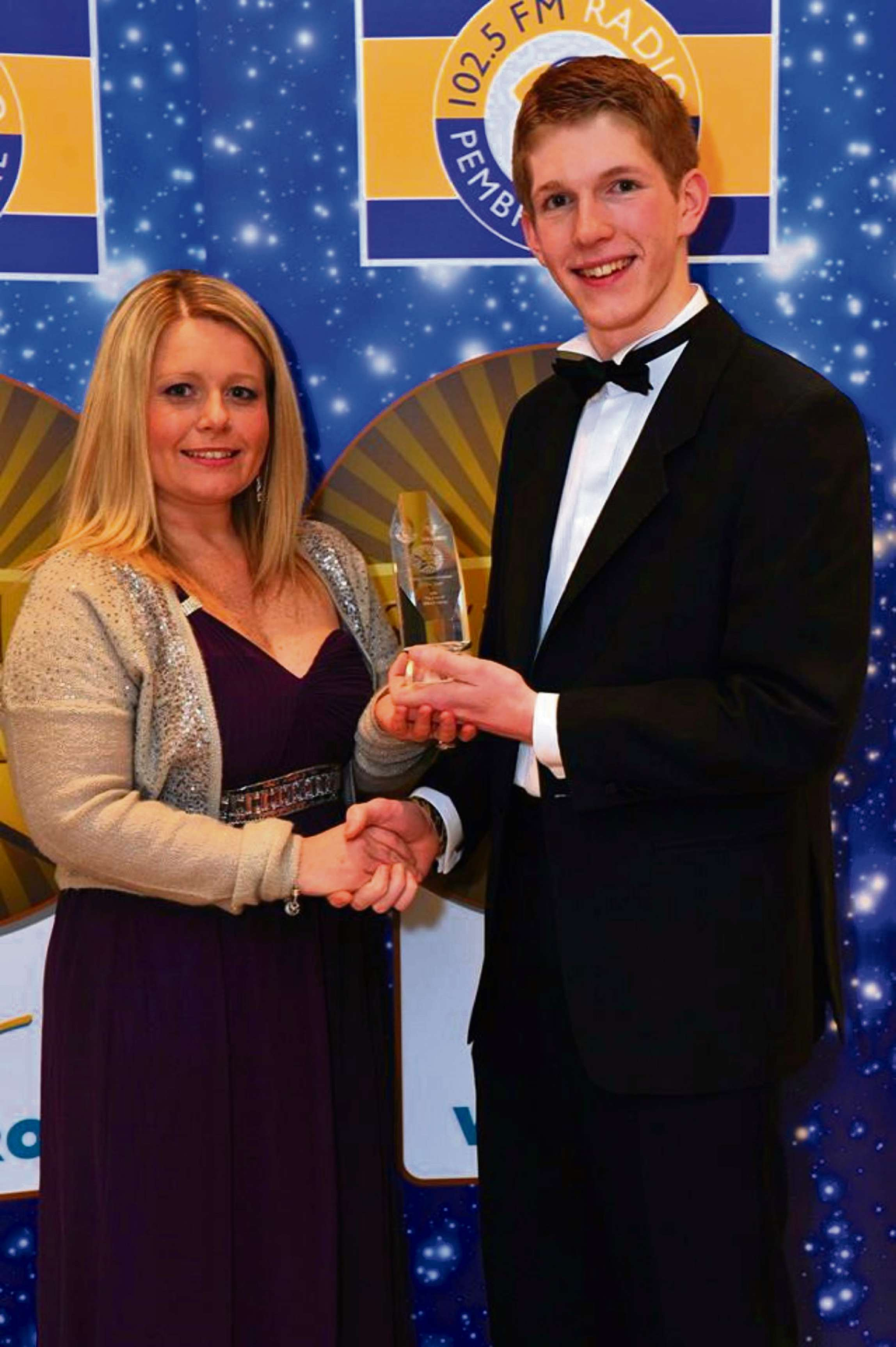 LCOAL HERO: Anna Malloy, PR and Communications Officer for the Port of Milford Haven and Rhodri Maiden, winner of the Young Entrepreneur Award 2014.  (4663748)