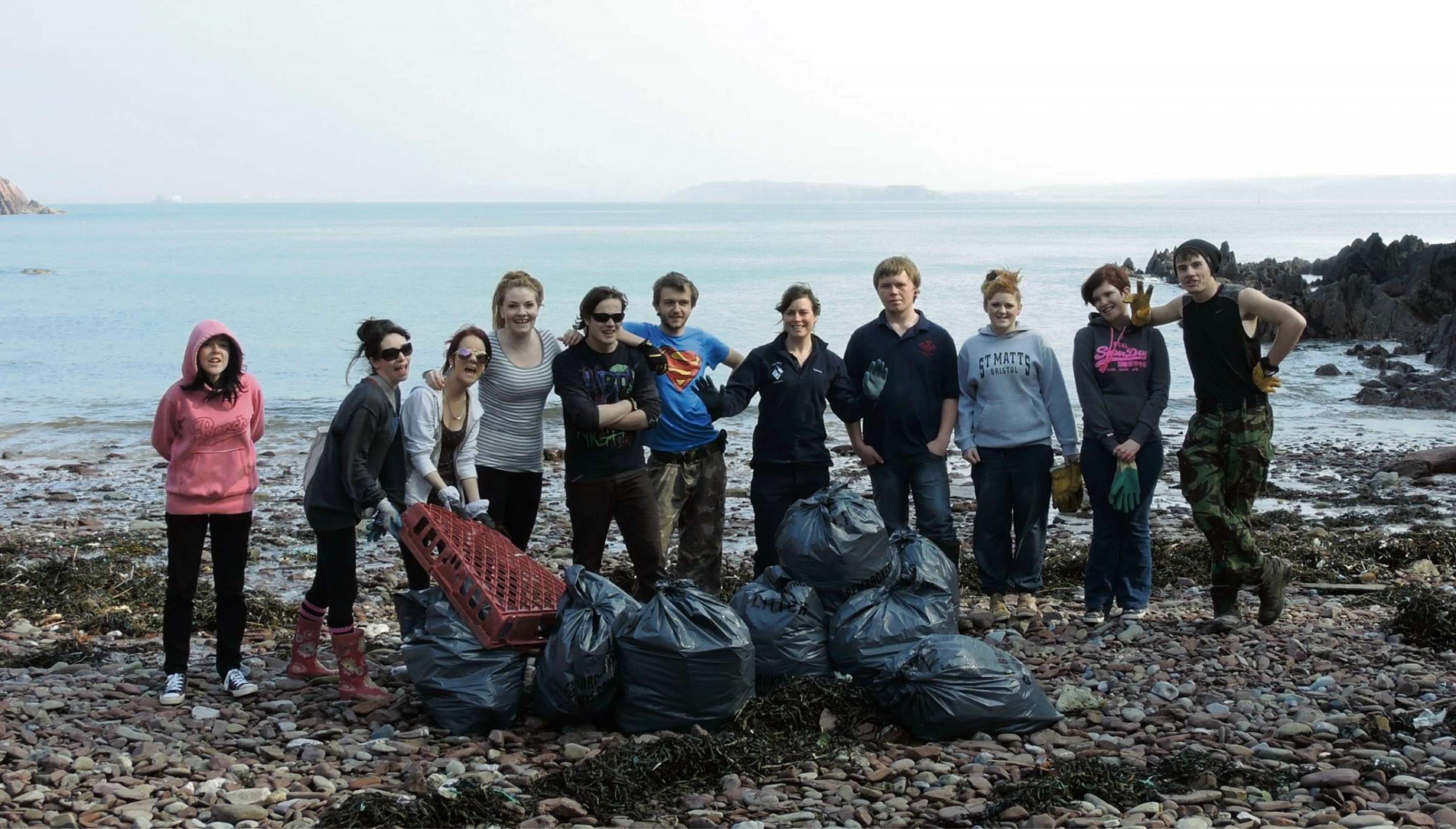 Beach clean-up offers new skills