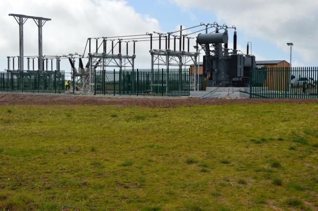 SPARKING CONTROVERSY: The electricity sub-station in Lower Thornton. PICTURE: Milford Mercury. (5281404)